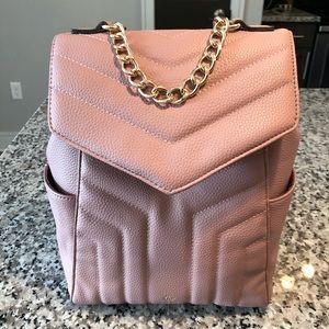 Nanette Lepore NWT!! Quilt gold chain Mauve bag